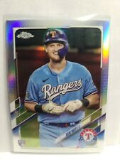 New listing 2021 Topps Chrome SAM HUFF silver prism Refractor TEXAS Rangers Rookie RC #81 SP