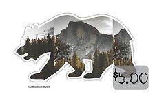 Half Dome Yosemite Valley Cali Bear _ Vinyl STICKER for laptop snowboard or wall
