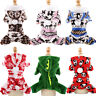 Pet Cat Dog Pajamas Jumpsuit Fleece Dogs Clothes Coat Hoodie Puppy Winter Warm