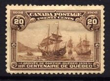 Canada SG 195 Cat £160 1908 Quebec Tercentenary 20c  Brown Well Centered Mounted