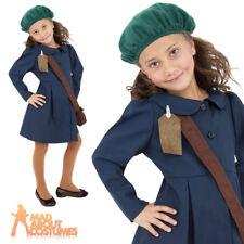 Childrens Evacuee Girl 1940s Book Week Day World War 2 Ww2 Fancy Dress Costume 10-12 Years