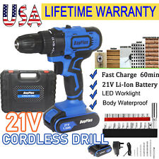 21V Cordless Drill Electric Screwdriver Wireless Power Driver Tail Hammer&Magnet