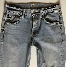 Ladies Seven 7 for All Mankind Rickie Boyfriend Blue Jeans W26 L31 Uk 6 (640)