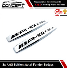 2x For Mercedes AMG Edition Pair Side Wing Fender Badge Emblem C E A S SLK CLASS