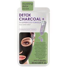 Skin Republic Detox Charcoal + 10-Superfood Formula Face Sheet Mask Acai Berries