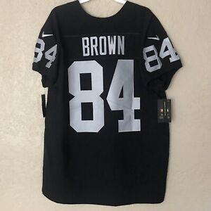New NFL Nike Black Jersey On Field 84 Antonio Brown Raiders Men's 48 MSRP 325$
