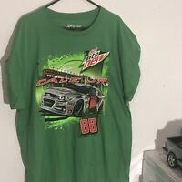 Nascar Dale Earnhardt Jr Diet Mtn Dew Graphic T-Shirt Size 2XL Chase Authentics