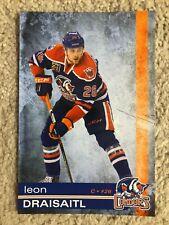 2015-16 Leon Draisaitl Oilers Condors Team Issue Oversize Postcard Post Card
