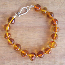 EXCLUSIVE GENUINE BALTIC AMBER ADULT BRACELET  COGNAC  Jewellery Beads FREE POST