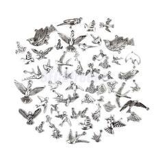 Lot 50± Mixed Tibetan Silver Alloy Bird Charm Pendants DIY Jewelry Findings