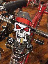 SKELETON PLATE TOPPER TIN mechanical w/moving eyes & cigar license topperl COOL