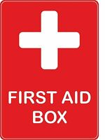 sticker first aid box red health emergency safetydecal self adhesive