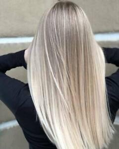 Luxury Lace Front Balayage Light Ash Blonde Platinum Human Hair Full Lace Wig