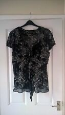 BHS Size 22 Black / White Print Tunic Top and Matching Black Cami