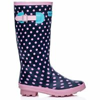 WOMENS LADIES WYRE VALLEY WELLIES WELLINGTON MUCK SHOES FESTIVAL BOOTS SIZE 3-8