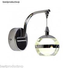 Indoor Wall Light Fixture Sconce Modern Bathroom Chrome Vanity Crystal Mini Led