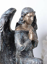 Engelfigur Shabby Chic Engel Flügel Schutzengel Vintage Figur Garten