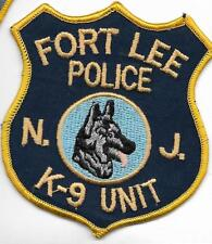 K-9  DHF NEW JERSEY FORT  LEE Police Patch Polizei Abzeichen Hundeführer 11,5 cm