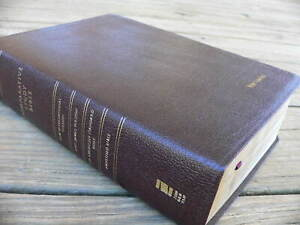 NIV NABS KJV Amplified Comparative Parallel BIBLE Burgundy Bonded Leather