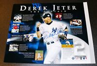 Signed Derek Jeter NY Yankees Autographed 16x20 Photograph Poster Steiner PSA
