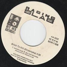 "RAGING SLAB / SKULLS Split PROMO 7"" Buy Our Records 1989"