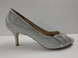 Paradox London Pink Chester Silver Glitter Mesh Womens 9