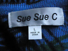 SUE SUE.C SmartBright30%WoolBlendL/sCardigan SizeL NWoT
