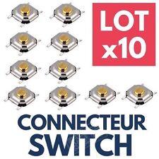 ►10 Switch RENAULT Bouton Poussoir Interrupteur Clé de Voiture Télécommande Plip