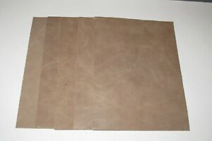 """5 pieces Antique Taupe real leather 21cm x 15cm 100% genuine 8"""" X 6"""" craft 1.2mm"""