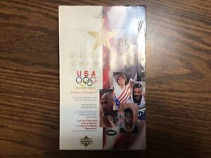 1996 UPPER DECK U.S OLYMPIC CHAMPIONS FACTORY SEALED WAX HOBBY BOX 28 PACKS