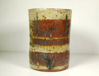 Large Vintage Mid Century Studio Pottery Vase Planter Signed RAR