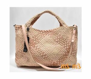 NWT FALOR DESIGNER rare woven cute Pink leather crossbody Hobo tote Handbags