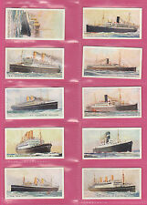 SHIPS - WILLS NEW ZEALAND  -  SCARCE SET OF  50  MERCHANT  SHIPS  CARDS  - 1925