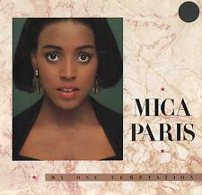 MICA PARIS My One Temptation (1988 U.S. White Label Picture Cover Promo 7inch)