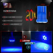 20Pcs Blue LED Instrument Dash Indicator Light Lamp Bulbs T10 W5W 2825 194 168