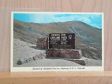 Post card view of the Continental Divide, Loveland Pass, on US-6 in Colorado