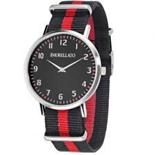 Reloj de Hombre MORELLATO VELA R0151134005 de Tela Negro Rojo 40mm NUEVO