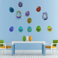 Removable Easter Bunnies Wall Stickers Decals Stick Bunny Egg Kids Room Decor US