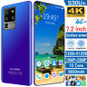Smart Mobile Phone 7.2 In 12G+512G Android 10 10-Core Mobiltelefon Face Unlock