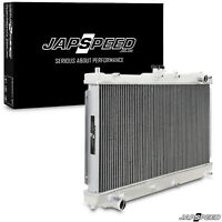 JAPSPEED 42MM ALUMINIUM ALLOY TWIN CORE RACE RADIATOR FOR MX5 MK2 MK2.5 1.6 1.8
