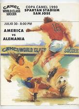 ORIG. prg 30.07.1990 en estados unidos club america mexico-RDA!!! extremadamente rara