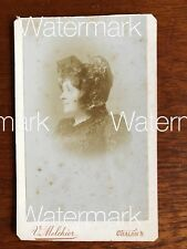 Vintage Antique CDV Card Photograph Woman France Late 1800's