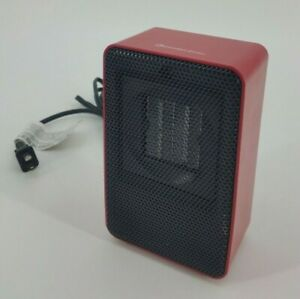 200 Watts Comfort Zone Red Ceramic Electric Heater CZ410 Compact Small Space