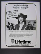 1984 Lifetime Cable TV Television Channel 'Introducing' vintage print Ad