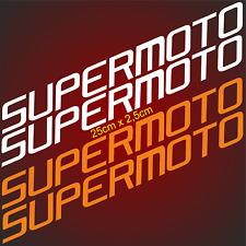 4 Aufkleber 25cm SUPERMOTO passend für KTM Racing Motorradaufkleber wp Sticker F
