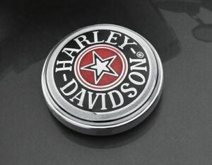HARLEY DAVIDSON NEW OEM FUEL GAS CAP LOGO MEDALLION FATBOY