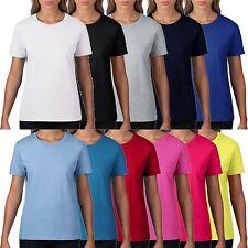10er Pack Damen Premium T-Shirt von Gildan Baumwolle S bis 2XL Öko-Tex RS 4100L