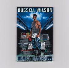 RUSSELL WILSON / ARMED & DANGERUSS - POSTER MAGNET (costacos seattle nike jersey