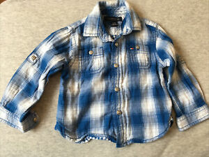 Tommy Hilfiger Baby  Blue Check Shirt Age 12 M