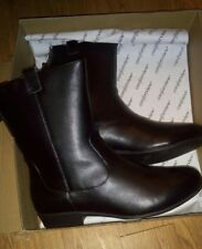 LEATHER Boots Booties Medium, Wide, & Wide Wide Width Mid-Rise Zip up
